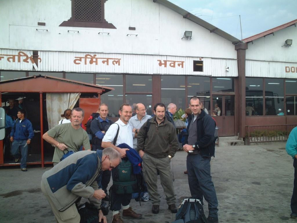 At Kathmandu airport