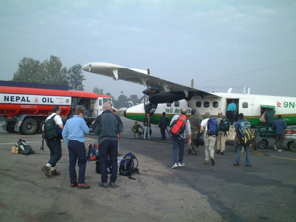 Boarding Yeti Airlines Flight D
