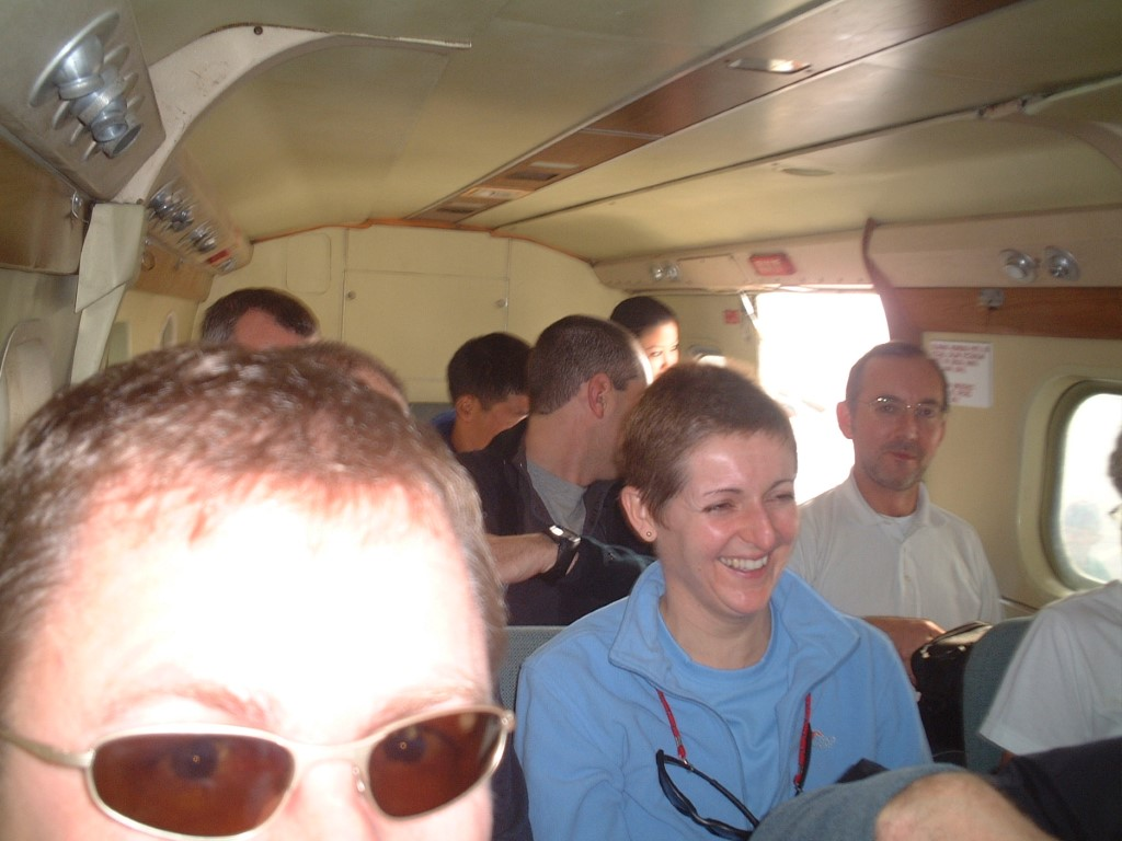 Aboard - not much room!