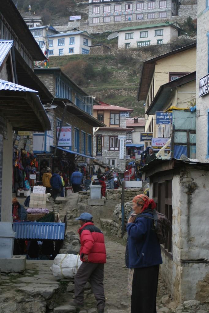 Street in Namche Bazaar