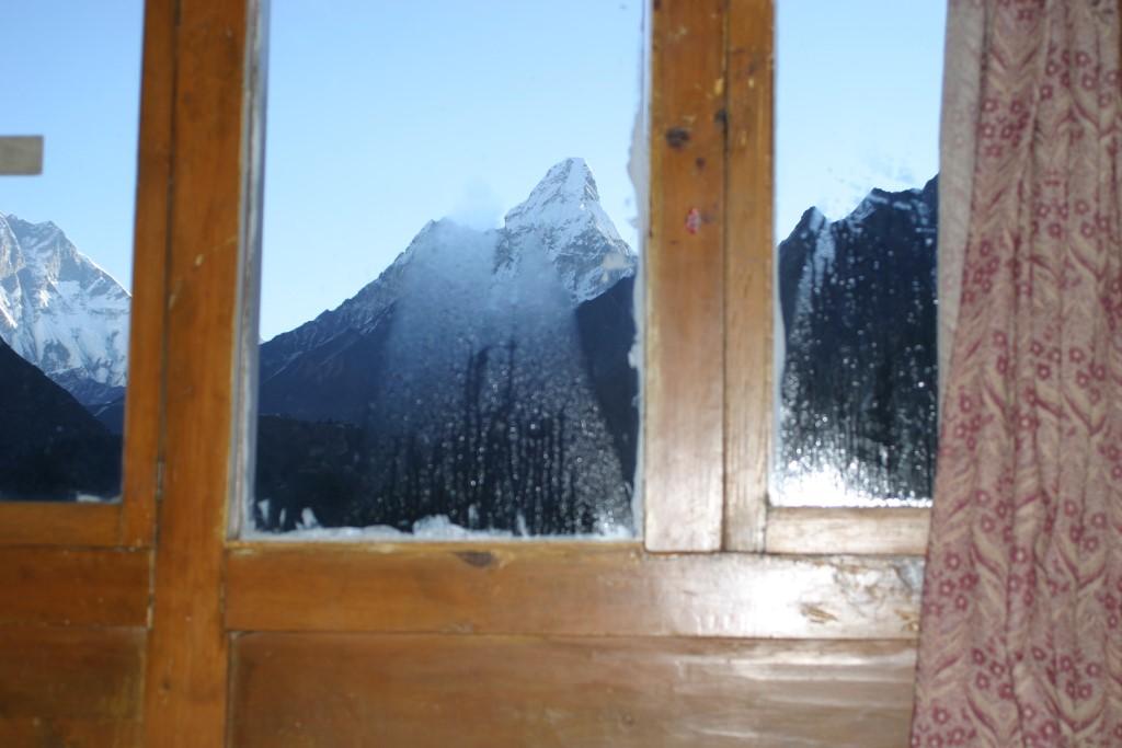 Ama Dablam from window
