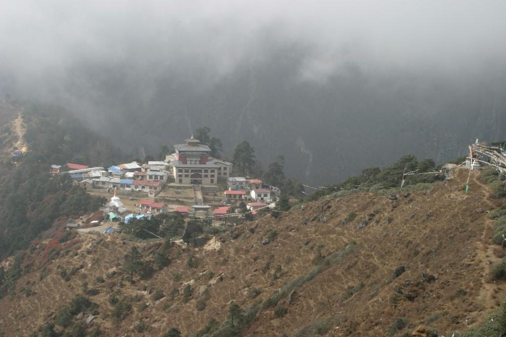 Tengboche in clouds