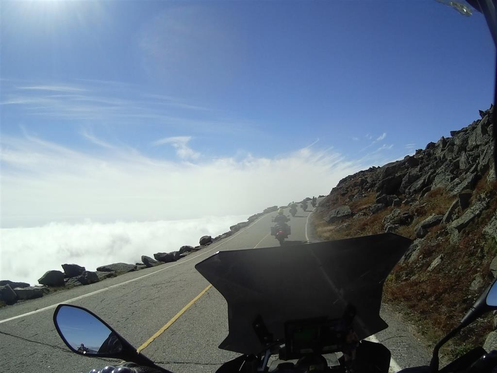 Riding up the Mt Washington road