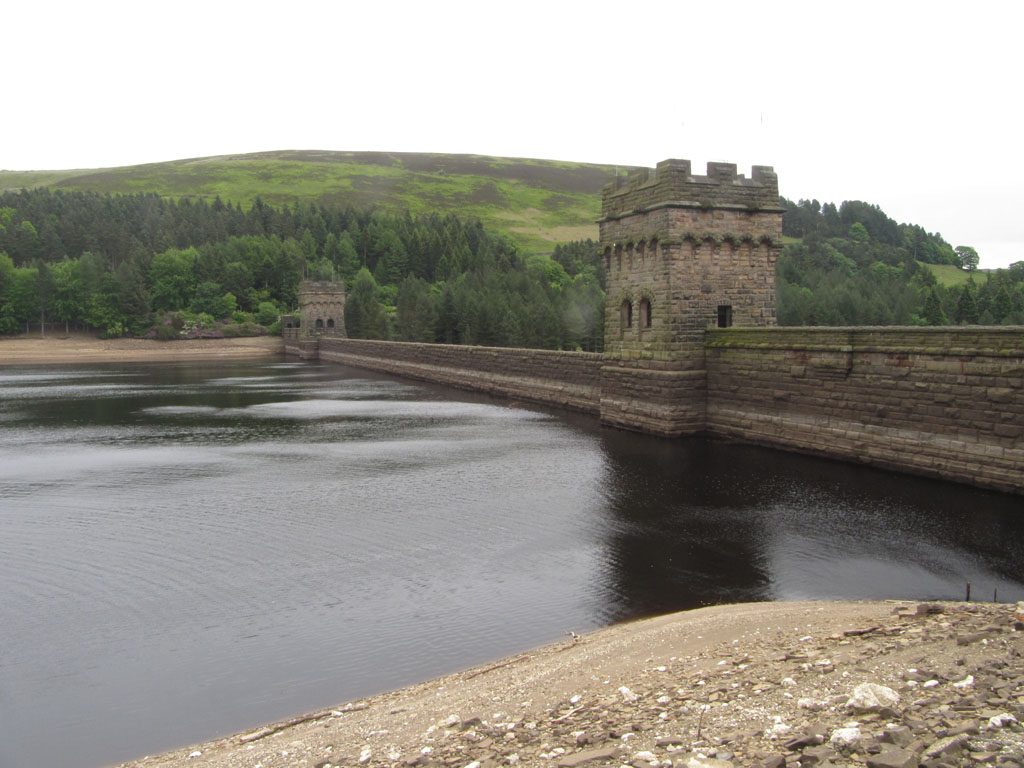 The Derwent Dam, used for training by 617 Squadron