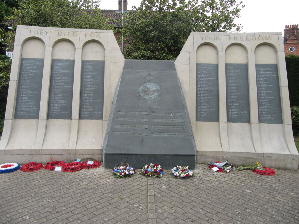 The 617 Squadron memorial, Woodhall Spa