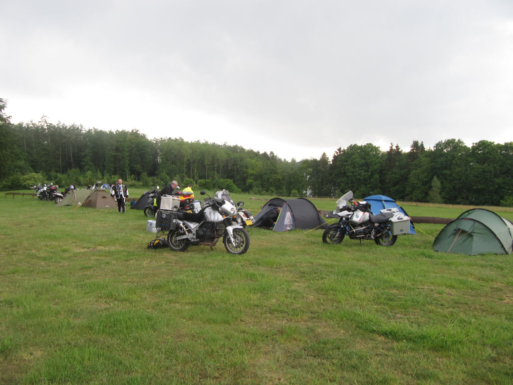 Camping with my fellow adventure bike riders