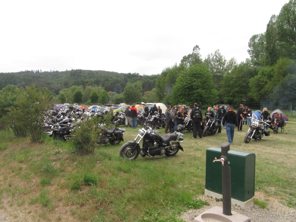 The German meeting of the Harley Fat Bob riders club…