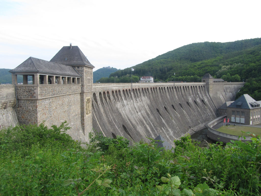 The Eder Dam, with monastery in the distance