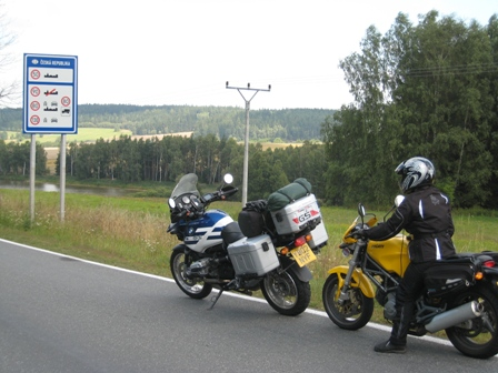 Back at the Czech border...