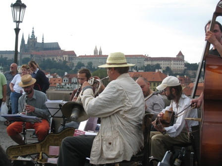 Jazz band on the Charles Bridge…