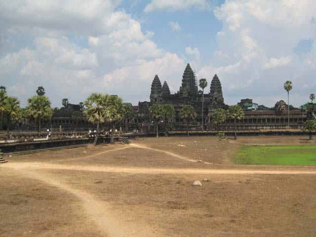 Angkor Wat from inside the outer wall