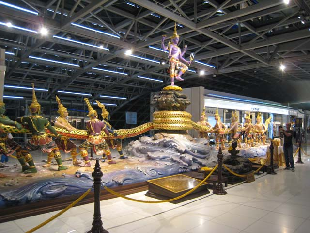 The statue of the Churning of the Ocean of Milk, Bangkok airport