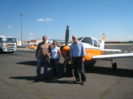 Pilot Pete and his guests