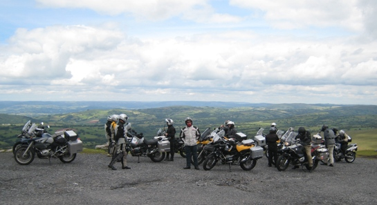 Parked up in the Brecon Beacons...
