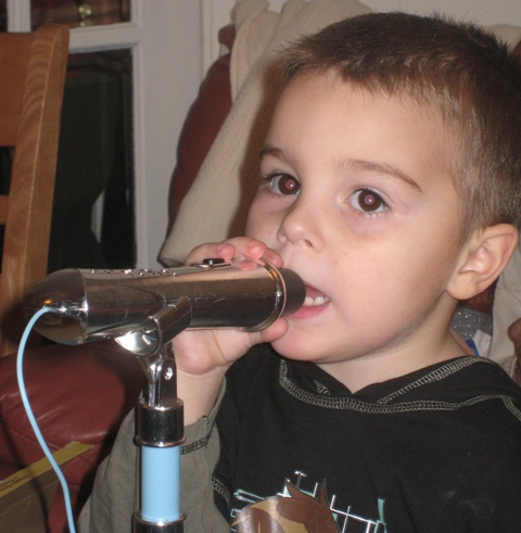 Aidan belts out another song...