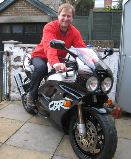 A happy bunny - Paul astride his new (old) FireBlade