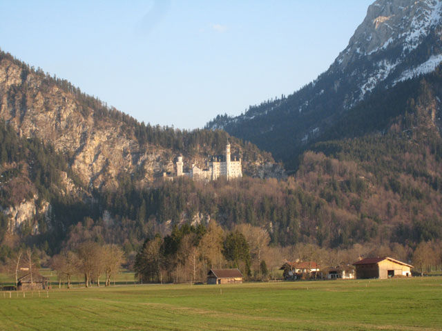 Neuschwanstein Castle from the roadside