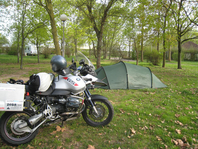 Campsite, somewhere near Colmar, France