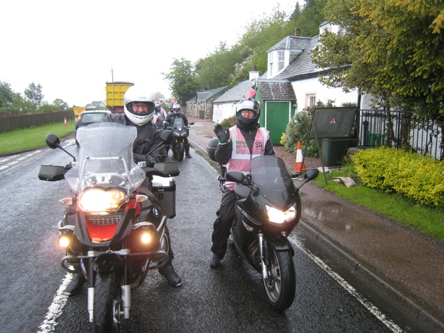 Nick with one of the more sane 'breast way round' riders
