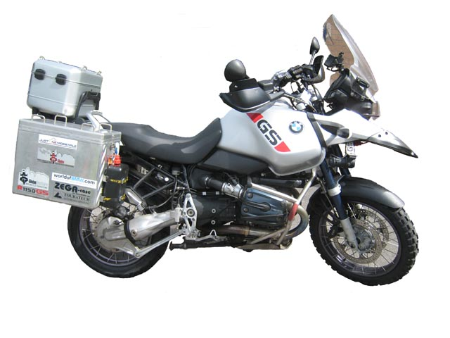 Paul's BMW R1150GS Adventure, all ready for the Trans Am