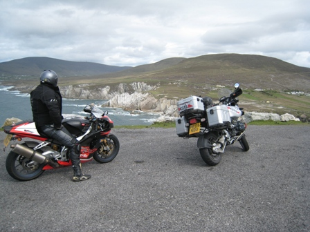 Admiring the view from Achill Island