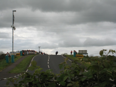 NW200 practice session at University Corner