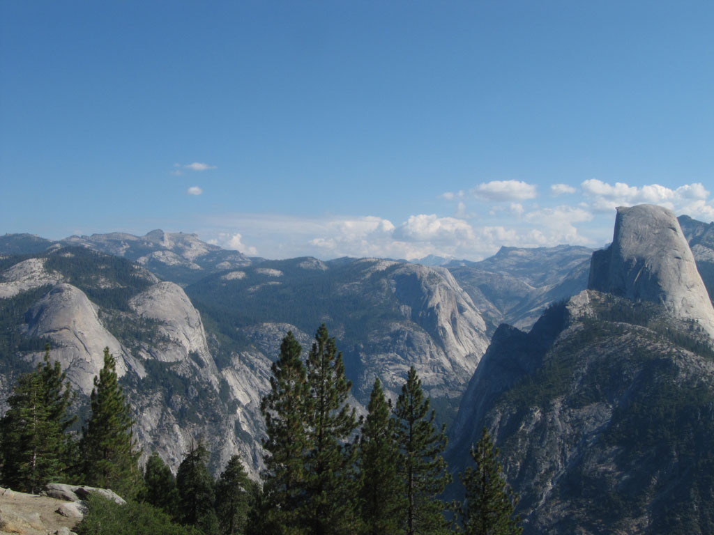 Half Dome and view