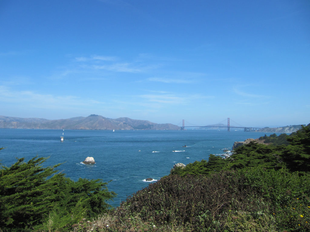 The Golden Gate Bridge viewed from Lands End