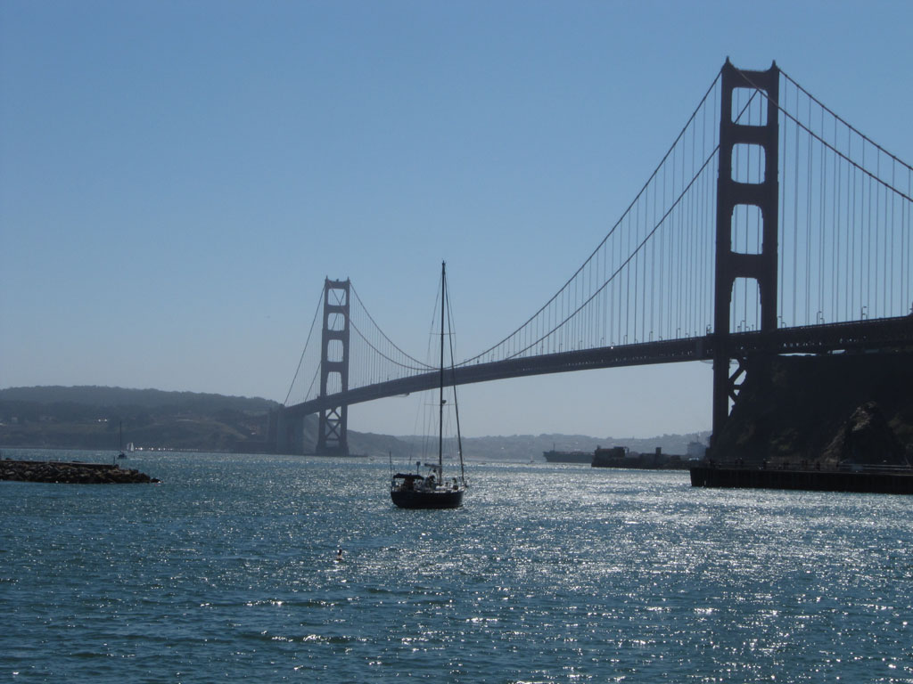 The Golden Gate Bridge from the Travis Marina