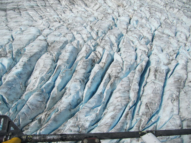 The Cambrian glacier as seen from the helicopter