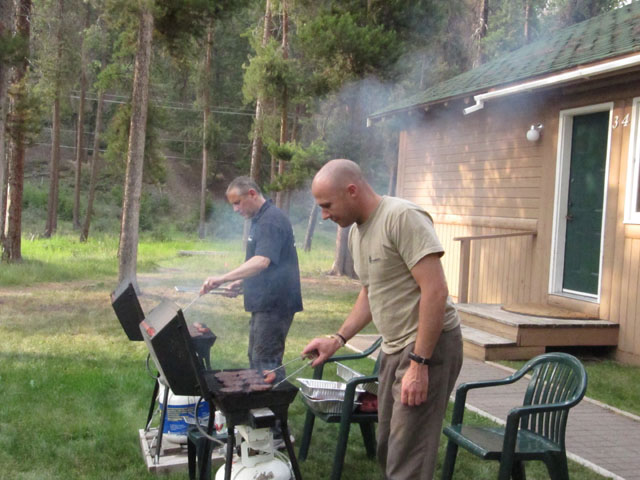 Kevin and Jeff cooking up a storm...
