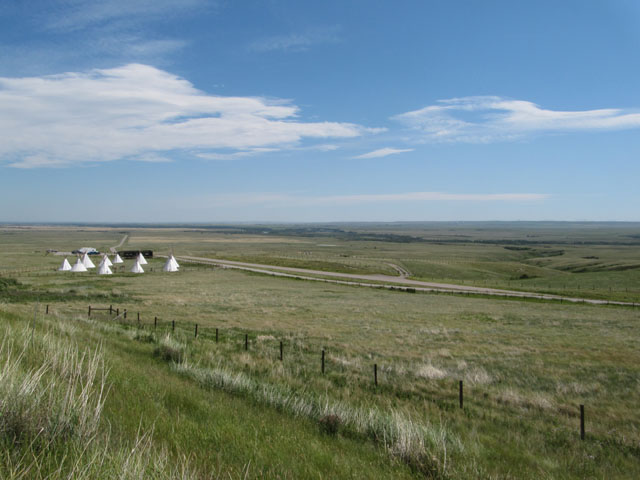 The wide open, windy, plains of Alberta from Head Smashed In Buffalo Jump