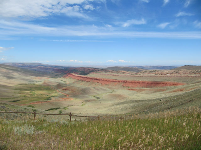 The ever-changing landscape of southern Wyoming...