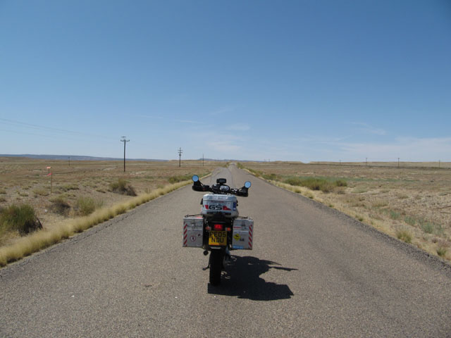 The start of the alternate route into Moab...