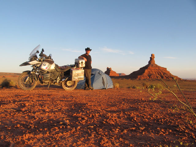 A very happy man, camping in Valley of the Gods, Utah