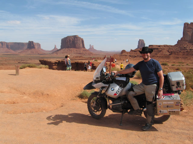 Paul stands proudly at John Ford's point, Monument Valley
