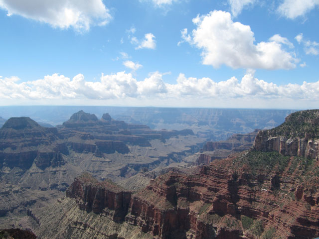 The view of Grand Canyon from the North Rim Visitor's Center