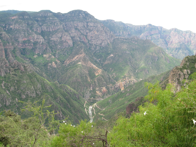 Copper Canyon and the dirt road...