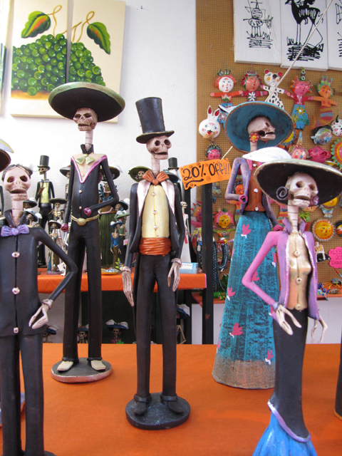 A small selection of the skeleton statues...