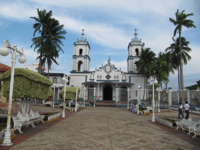 The church in the square, Catemaco, Mexico...