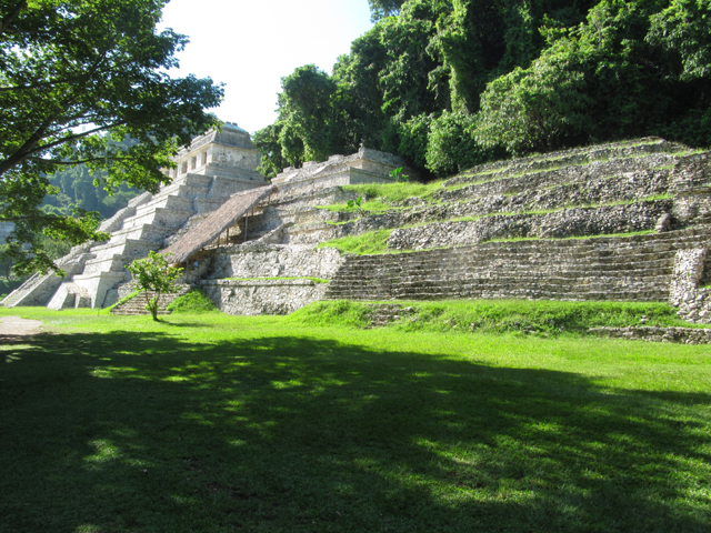The first look at the temples at Palenque...