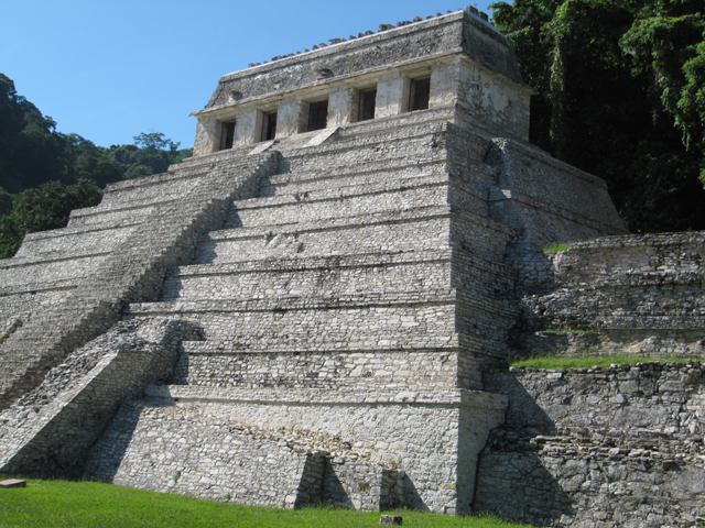 Pakal's temple, showing the side windows...