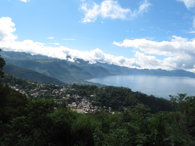 The view over Panajachel and the lake...