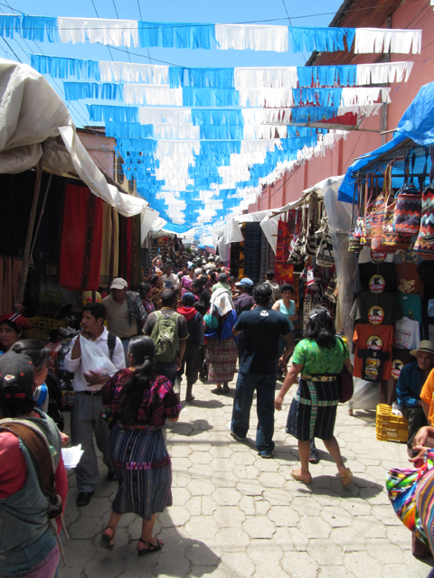 Entering the market at Chichicastenanga...