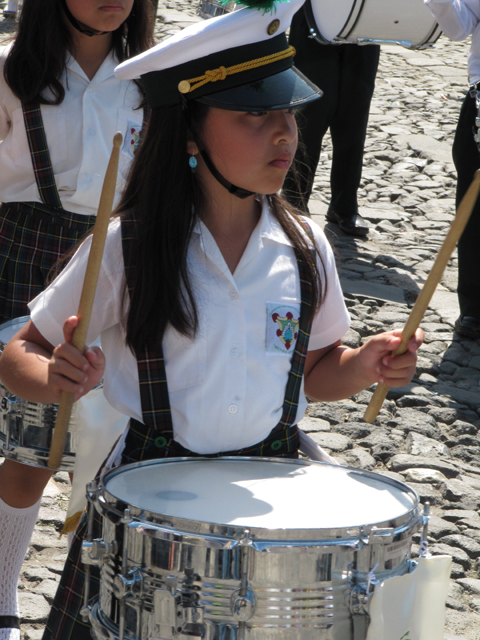 Little drummer girl...
