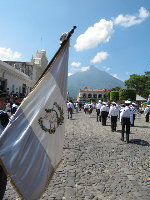 Independence Day parade, Antigua Guatemala...