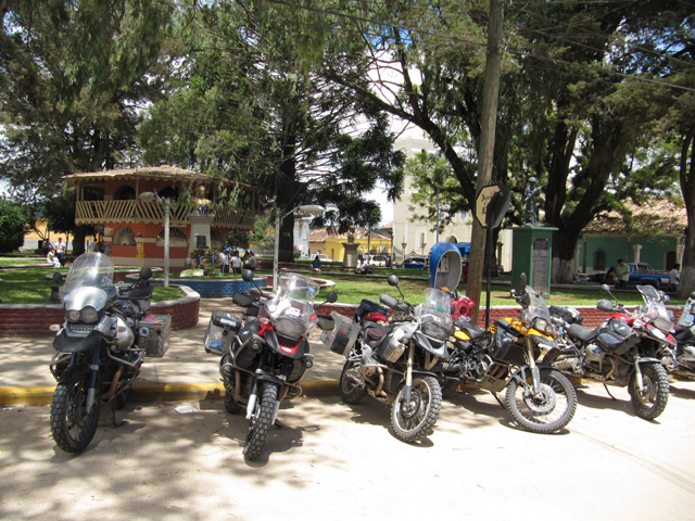 Just a few of the bikes in the plaza at La Esperanza...