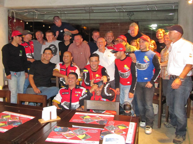 With the local bikers, Medellin, Columbia...