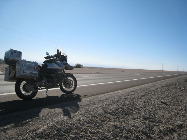 Stopped in the empty desert of northern Chile...