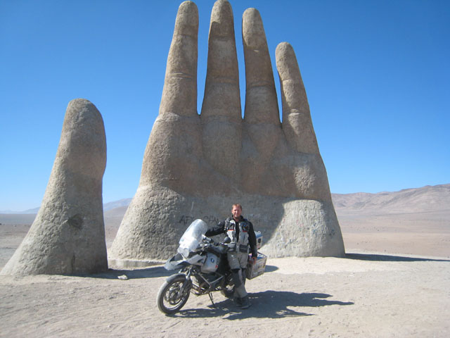 By the Hand in the Desert, Antofagsta, Chile...